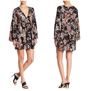 Rokoko By Dazz Floral Faux Wrap Dress A012